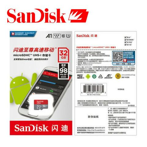 Cartão Sandisk Ultra 32gb 98mb/s