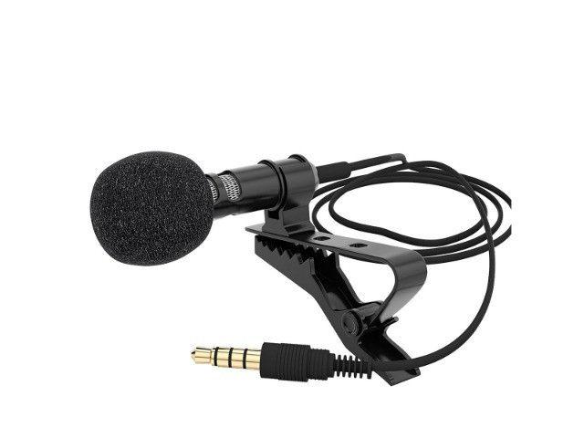 Microfone Mini de Lapela Portátil, Com Clip-On de 3.5mm Para Celular de Alta Qualidade - Foto 4