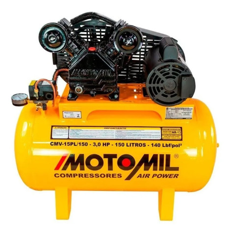 Compressor Motomil Cmv-15pl/150 Air Power 220/380v