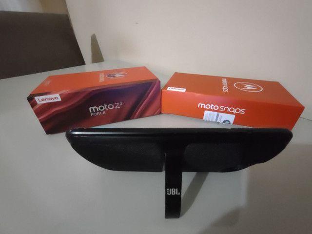 Celular Motorola Z² Force + Snap JBL c/ Bateria e tela na garantia - Foto 6