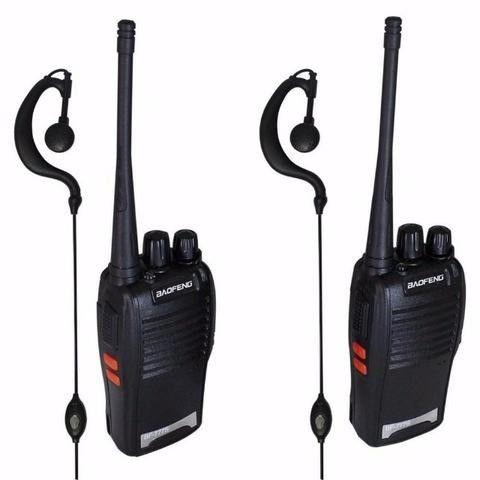 Kit 2 Radios Comunicação Ht Uhf Vhf 16 Canais Completos 777s - Foto 2