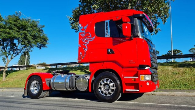 Scania R 440 4x2 Toco Automático Completo 2015 Rodas de Alumínio Fino Trato - Foto 10