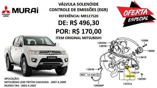 Válvula Solenóide (EGR) - Mitsubishi Pajero TR4 e L200 Triton Gasolina (Original)