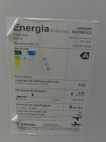 Máquina Lava e seca Electrolux 09kg  - Foto 4