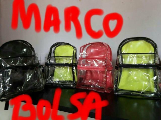 Mochilas Transparentes e sacolas Marco Bolsa