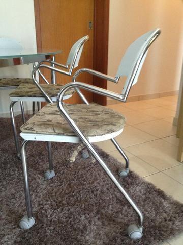 Mesa de Jantar Triangular Vidro 6 Cadeiras - Foto 5