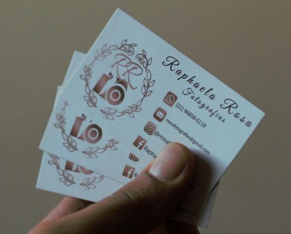 Cartão de visitas papel couchê 250g
