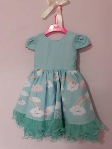 Vestido festa infantil Chuva de Bênçãos Amor - Foto 6