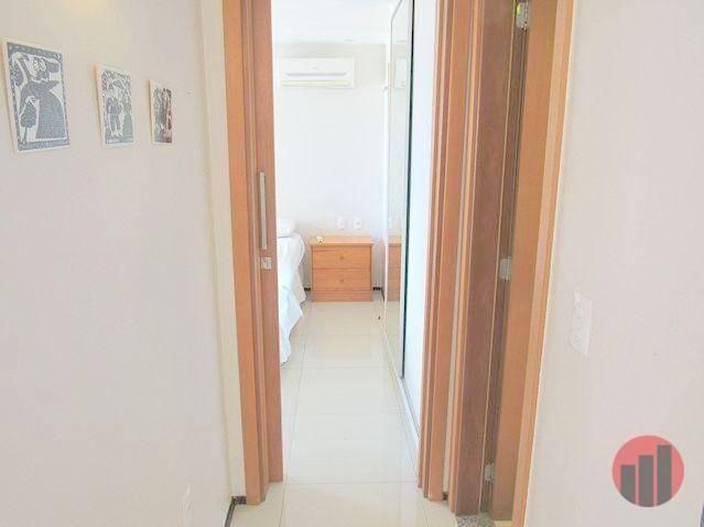 Apartamento todo mobiliado com 2 dormitórios para alugar, 57 m² por R$ 2.000/mês - Cidade  - Foto 17
