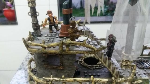 Navio Piratas Do Caribe - Versão Fantasma - Mega Bloks - Foto 4