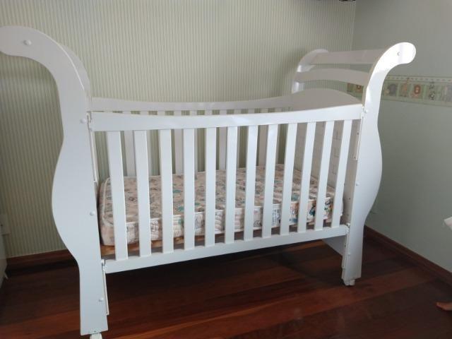 Berço mini cama com colchão muito novo - Foto 3