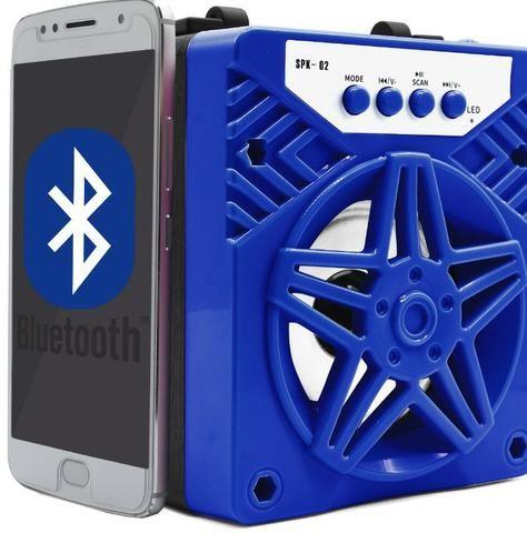 Caixa de Som 1 Alto-falantes Bluetooth Portatil Android celular - Foto 6
