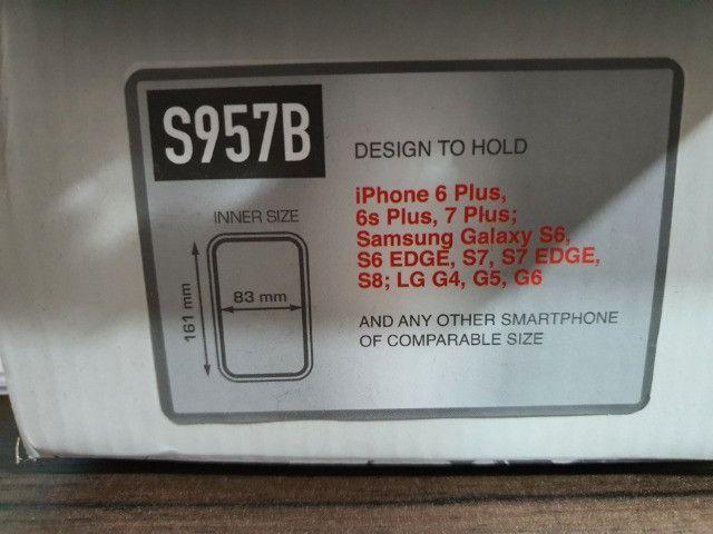 Suporte Celular Smartphone Givi S957BBR - Foto 5