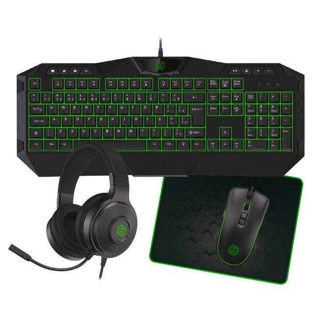 Kit Gamer Teclado Mouse Mousepad Headset Hoopson Tpc-067vd - Loja Natan Abreu