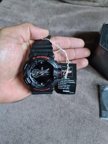 """""""Somente Venda"""" Relógio Casio G-shock Ga-400hr-1adr Ga 400hr Preto Vermelho - Foto 6"""