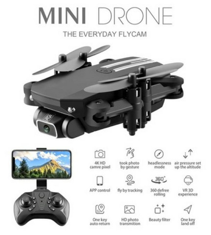 Drone Rc Quadcopter Rtf Mini Wifi Camera 1080p + Altitude - Foto 2