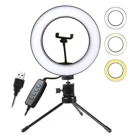 Iluminador Ring Light - 25 cm - c/ Tripe e Suporte - LAM-8478 - Inova  - Foto 4