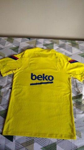 Camisa Oficial Treino Barcelona - Foto 2