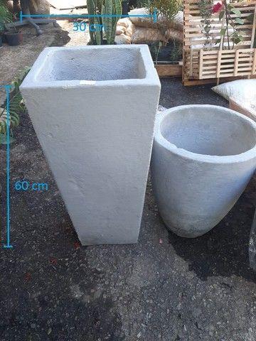 Vasos variados de cimento para plantas - Foto 3