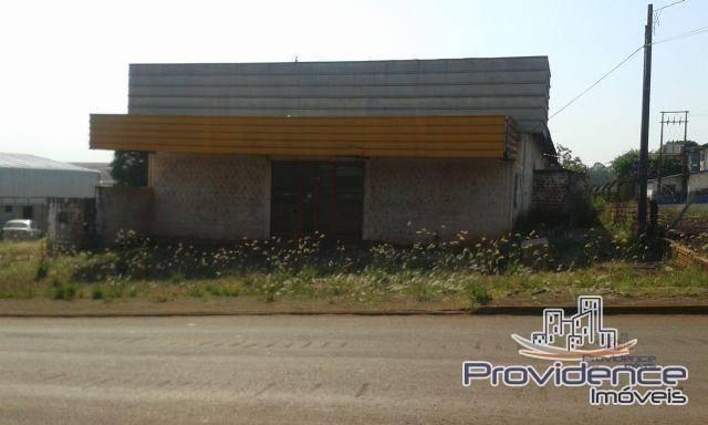 Barracão comercial com 2.500m² de terreno, à venda. cascavel velho, cascavel.