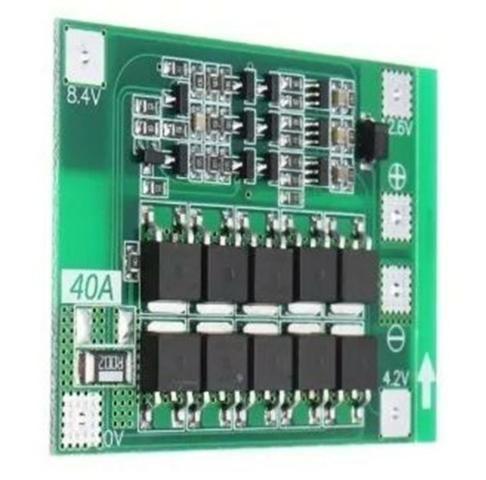COD-AM202 Modulo Bms 4s 40a Para Para Baterias 18650 Lition 3.7v Arduino Automação Rob