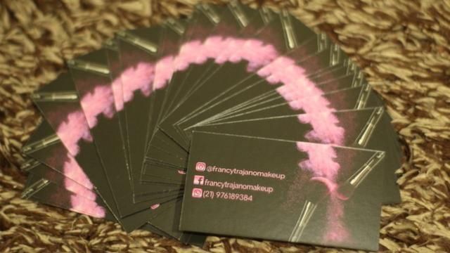 Cartão de visitas papel couchê 250g - Foto 2