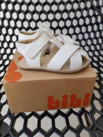 Sandalia Branca Couro - bebê