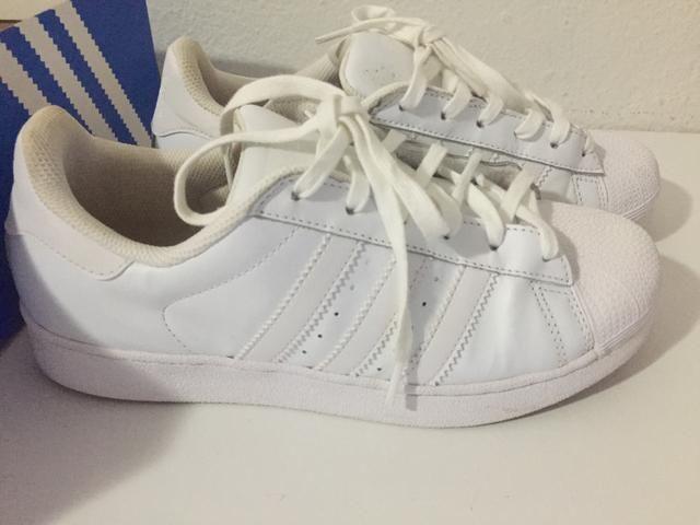 Tênis superstar Branco - Roupas e calçados - Jardim Mariliza dcb41283dc8cd