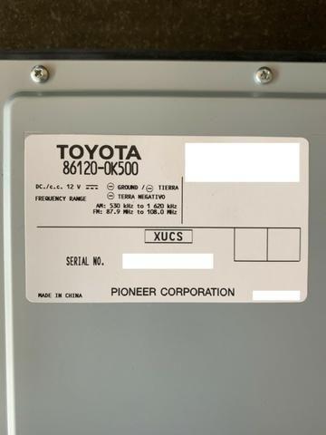 Toyota Hilux   Módulo/Radio/Som Automotivo Pioneer ? Modelo 86120-0K500 - Foto 4