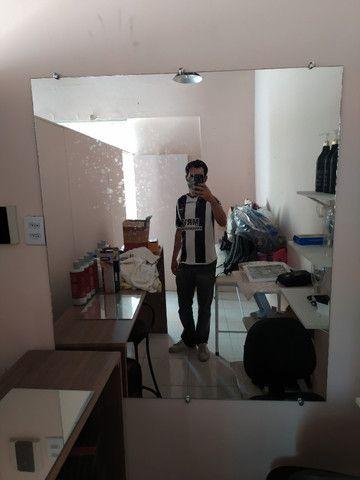 Espelho para barbearia e salao de beleza 1,33 x 1,15