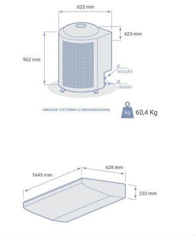 Ar Condicionado novo Piso Teto Carrier 48.000 BTU/h Quente e Frio Trifásico - 380 Volts - Foto 2