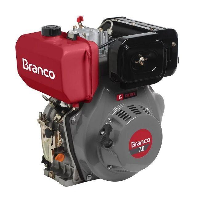 Motor à Diesel 296CC 7cv Partida Manual BD-7.0 Branco