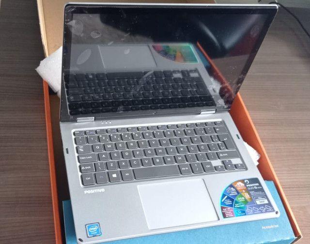 Notebook  2 em 1 Positivo <br>Quad- Core Windows 10 Home Tela 11.6 Touch- Cor Cinza