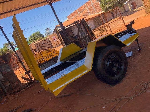 Fabricação de carreta para bobcat - Foto 3