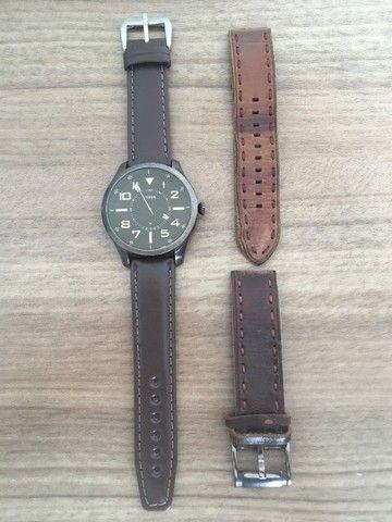 Relógio Fs4459 Men Watches: Brown Leather Strap - Fossil  - Foto 4