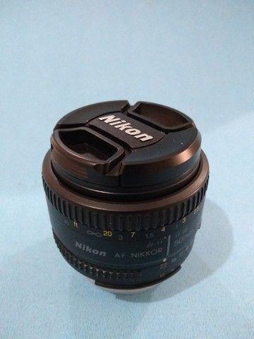 Lente Nikkor AF 1.8 50mm para nikon - Foto 2