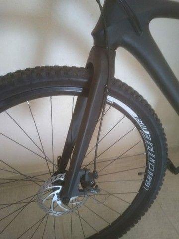 Bike fibra de carbono fosco miracle, tam 21' aro 29'