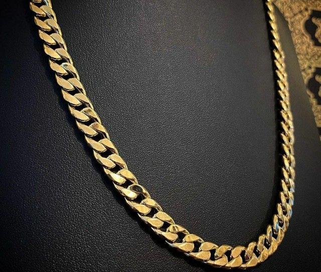 Cordões e correntinhas - piastrine ou cártier em ouro 18 quilates derretido. - Foto 4