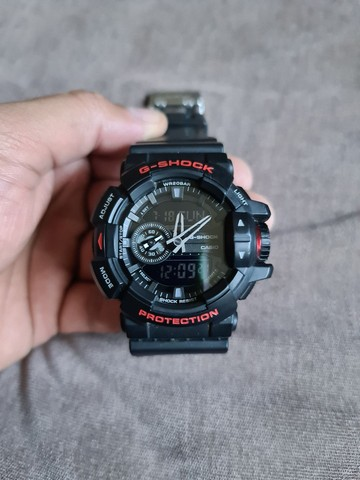 """""""Somente Venda"""" Relógio Casio G-shock Ga-400hr-1adr Ga 400hr Preto Vermelho"""