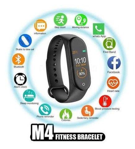 Pulseira Inteligente Smartband M4 Monitor Cardíaco + Brinde - Foto 3