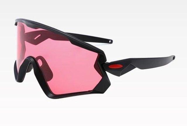 Óculos de ciclismo lente rosa vôlei corrida esportes