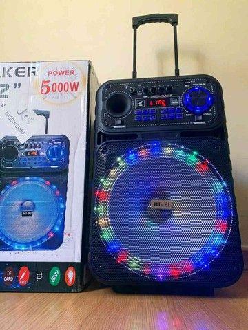 Caixa de Som Amplificada 5.000w Speaker - Foto 4