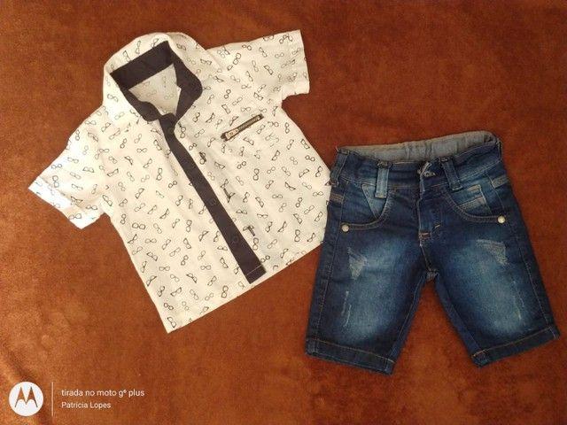 Conjuntinho short e camisa casual