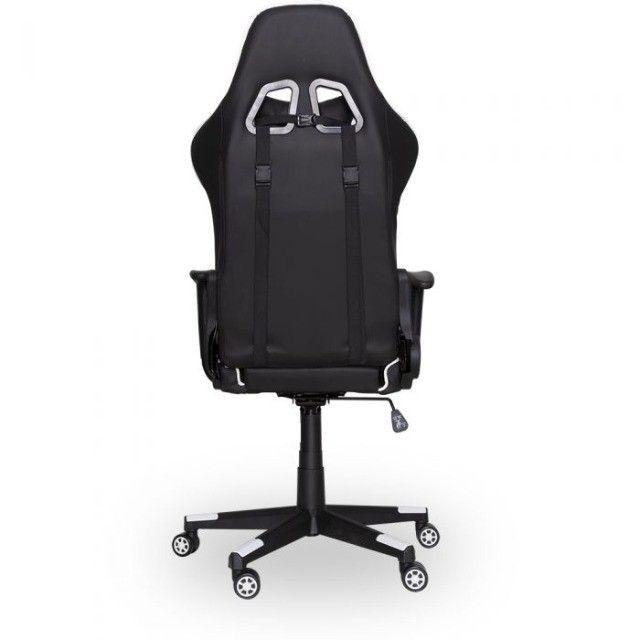 Cadeira Gamer PrimeX Preto/Branco Dazz - Loja Natan Abreu - Foto 3
