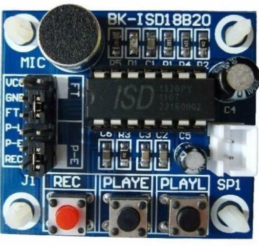 Isd1820 Módulo Gravação Reprodução Som Voz Player - Foto 5