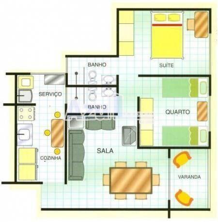 Apartamento  com 2 quartos no Serra dos Cristais - Bairro Vila Maria José em Goiânia - Foto 11