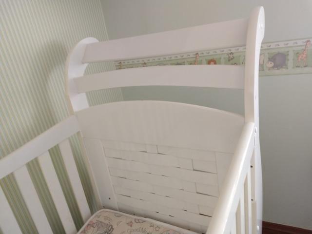 Berço mini cama com colchão muito novo - Foto 6