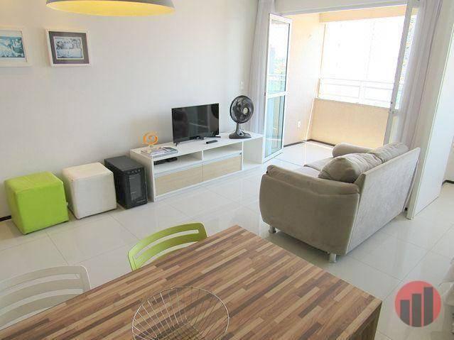 Apartamento todo mobiliado com 2 dormitórios para alugar, 57 m² por R$ 2.000/mês - Cidade  - Foto 12