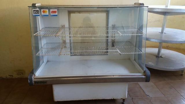 Balcão frio, balcão quente, freezer, armário de pão e vitrine - Foto 2