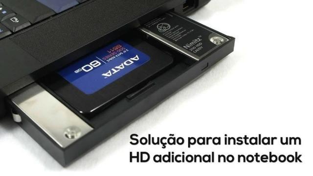Adaptador Dvd P/ HD Ou SSD Sata Para Notebook - Foto 6